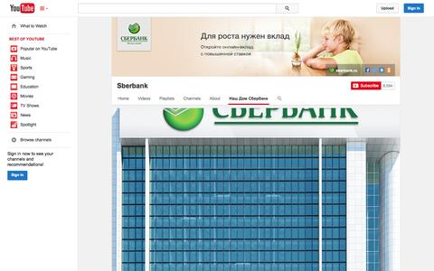Screenshot of YouTube Page youtube.com - Sberbank  - YouTube - captured Oct. 26, 2014