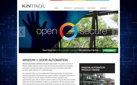 Screenshot of Home Page kintrol.com.au - Kintrol - captured Oct. 17, 2017
