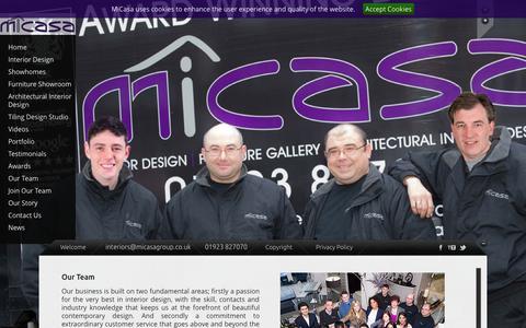 Screenshot of Team Page micasagroup.co.uk - Our Team | MiCasaMiCasa - captured Oct. 27, 2014