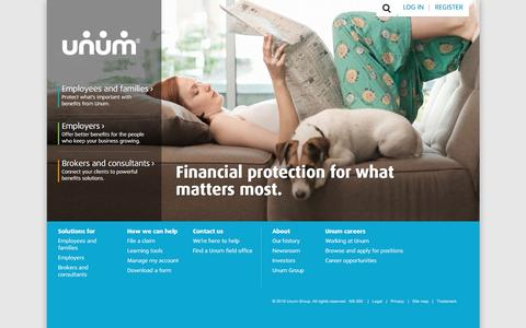 Disability, Life and Financial Protection Benefits | Unum Insurance