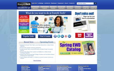 Screenshot of Home Page forsythtech.edu - Forsyth Tech - captured Jan. 15, 2015