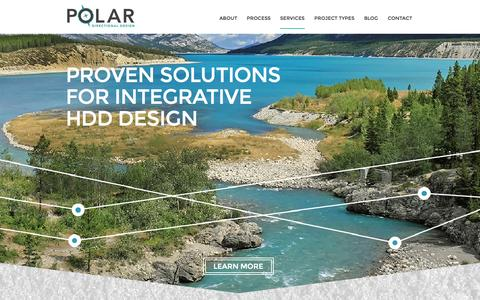 Screenshot of Home Page Blog polardesign.ca - Polar Directional Design - captured Oct. 3, 2014