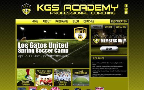 Screenshot of Home Page kgsacademy.com - KGS Academy - captured Sept. 30, 2014