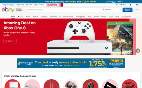 Screenshot of Home Page ebay.com - Electronics, Cars, Fashion, Collectibles, Coupons and More | eBay - captured Nov. 27, 2017
