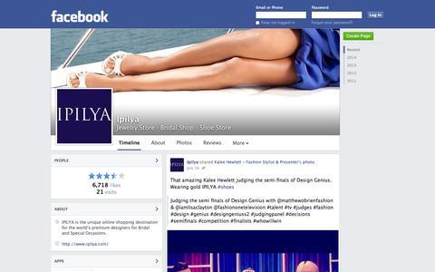 Screenshot of Facebook Page facebook.com - Ipilya - London, United Kingdom - Jewelry Store, Bridal Shop | Facebook - captured Oct. 23, 2014