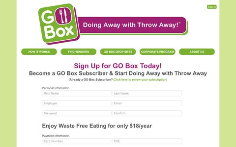 Screenshot of Signup Page goboxpdx.com - Sign Up - GO Box PDX - captured Nov. 1, 2014