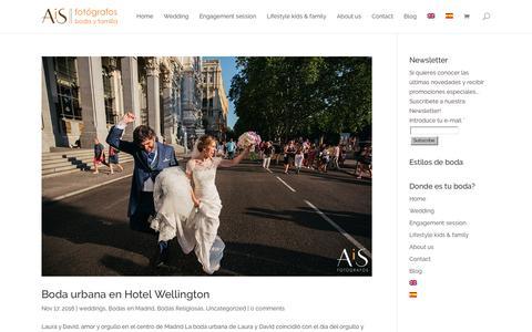 Screenshot of Blog aisfotografos.com - Blog AiS Fotógrafos - AiS Fotógrafos de boda - niños y familia - captured Nov. 20, 2016