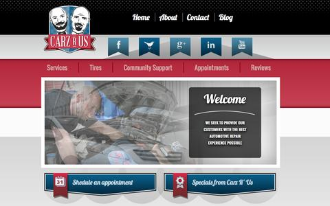 Screenshot of Home Page carzrus.net - Carz R Us Does Auto Repair in Machesney Park, ILCarz R Us - captured Sept. 30, 2014