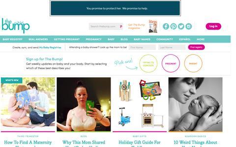Screenshot of Home Page thebump.com - TheBump.com - Pregnancy, Parenting and Baby Information - captured Dec. 2, 2015