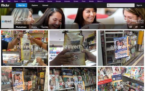 Screenshot of Flickr Page flickr.com - Flickr: AzDirect's Photostream - captured Oct. 23, 2014