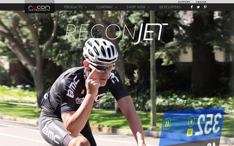 Screenshot of Home Page reconinstruments.com - Recon Instruments | Heads-up Display (HUD) Technology - captured July 11, 2014