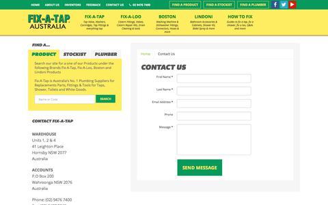 Screenshot of Contact Page fixatap.com.au - Contact Us - Fix A Tap - captured Oct. 11, 2017