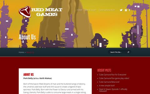 Screenshot of About Page redmeatgames.ca - About Us | Red Meat Games - captured Nov. 5, 2014