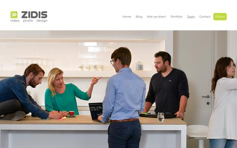Screenshot of Team Page zidis.be - Team - Zidis - captured Oct. 18, 2018