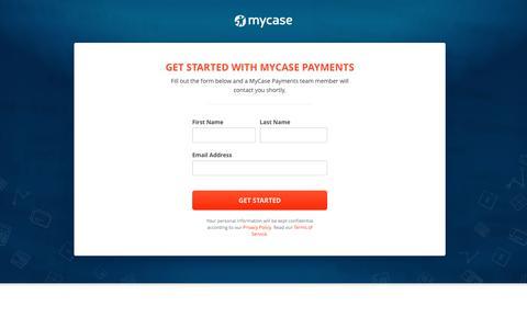 Screenshot of Landing Page mycase.com - MyCase Payment Platform - captured July 24, 2018