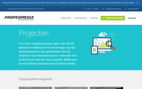 Screenshot of Case Studies Page propermedia.nl - Section: Case Studies - Propermedia - captured Dec. 5, 2015