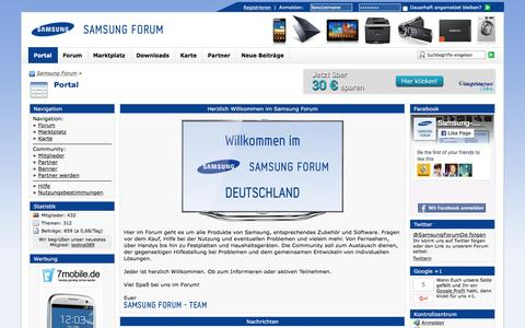 Screenshot of Home Page samsung-forum.de - Portal - Samsung Forum - captured June 23, 2016