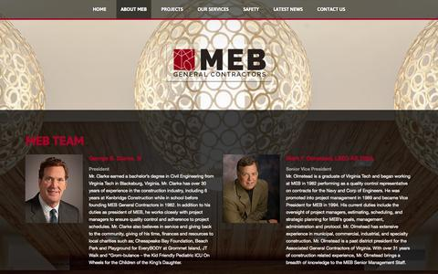 Screenshot of Team Page mebgc.com - MEB Team - captured Oct. 3, 2014