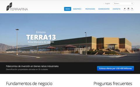 Screenshot of Home Page terrafina.mx - Terrafina - captured Jan. 12, 2016