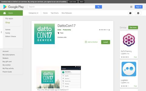 DattoCon17 - Apps on Google Play
