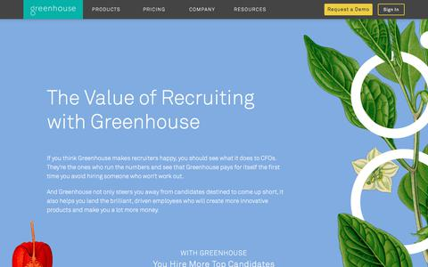 Recruitment Costs ROI | Greenhouse
