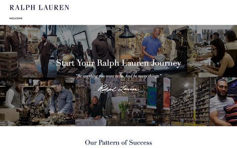Screenshot of Jobs Page ralphlauren.com - External Careers- Corporate - captured April 10, 2018