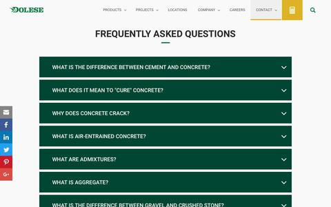Screenshot of FAQ Page dolese.com - Dolese | FAQ Page - captured Oct. 12, 2017