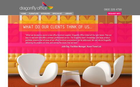 Screenshot of Testimonials Page dragonflyoffice.co.uk - Testimonials : Dragonfly Office Furniture & Office Interiors - Testimonials from our clients. - captured Oct. 5, 2014