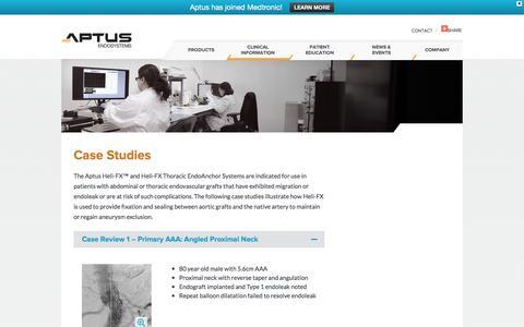 Screenshot of Case Studies Page aptusendo.com - Case Studies - Aptus - captured Feb. 6, 2016