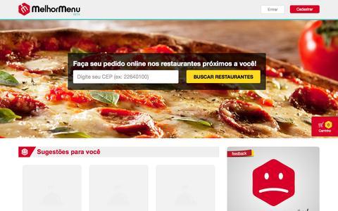 Screenshot of Home Page melhormenu.com.br - Home - Melhor Menu Delivery - captured Sept. 30, 2014