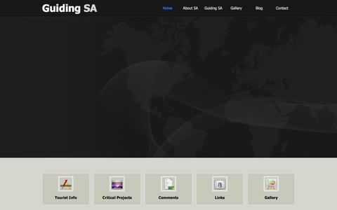 Screenshot of Home Page guidingsa.com - Website Under Construction - captured Jan. 27, 2015