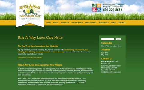 Screenshot of Press Page riteawaylawncare.com - News «  Rite-A-Way Lawn Care, LLC - captured Oct. 6, 2014