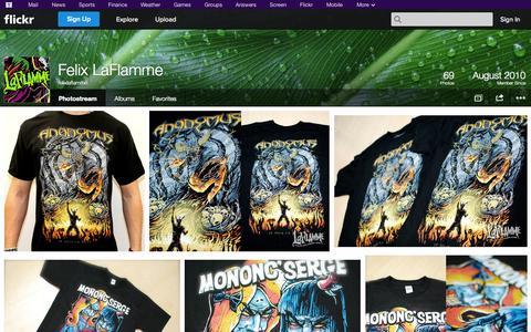 Screenshot of Flickr Page flickr.com - Flickr: felixlaflamme's Photostream - captured Nov. 3, 2014