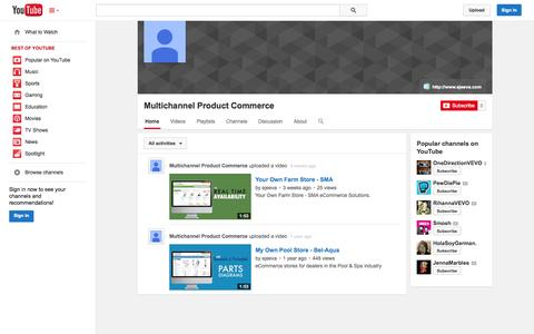 Screenshot of YouTube Page youtube.com - Multichannel Product Commerce  - YouTube - captured Oct. 23, 2014