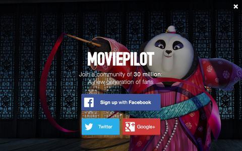 Screenshot of Login Page moviepilot.com - A New Generation of Fans | moviepilot.com - captured Jan. 9, 2016