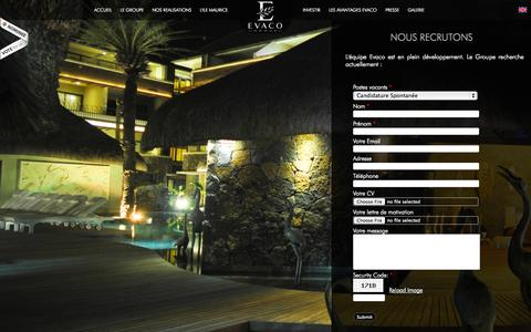 Screenshot of Jobs Page evacogroup.fr - Evaco Group recrute - captured Sept. 25, 2014