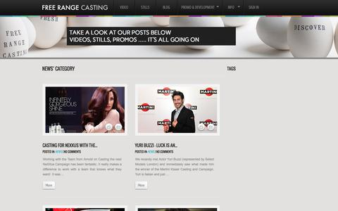 Screenshot of Press Page freerangecasting.com - News | Free Range Casting - captured Sept. 30, 2014