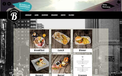 Screenshot of Menu Page restaurantdebrandingutrecht.nl - Restaurant De Branding :: MENUKAART - captured Oct. 8, 2014