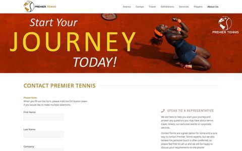 Screenshot of Contact Page premiertennis.com - Contact Premier Tennis - Call Us - Premier Tennis - captured Oct. 2, 2014
