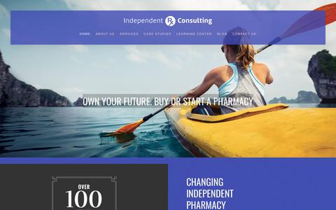Screenshot of Home Page independentrxconsulting.com - Home - captured June 7, 2017