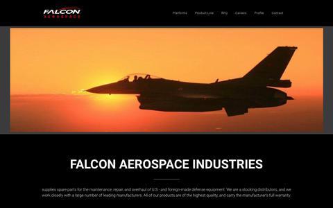 Screenshot of Home Page falcon-aerospace.com - Home - captured Nov. 14, 2018