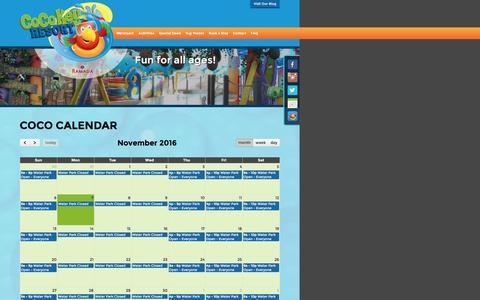 Screenshot of Hours Page cocokeyomaha.com captured Nov. 7, 2016