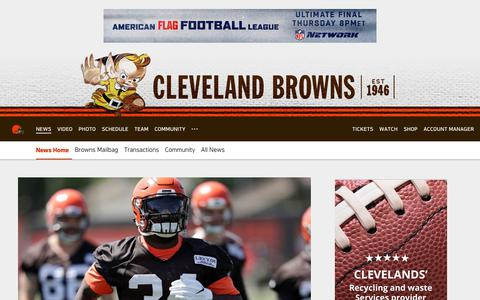 Screenshot of Press Page clevelandbrowns.com - Browns News | Cleveland Browns - clevelandbrowns.com - captured July 18, 2018