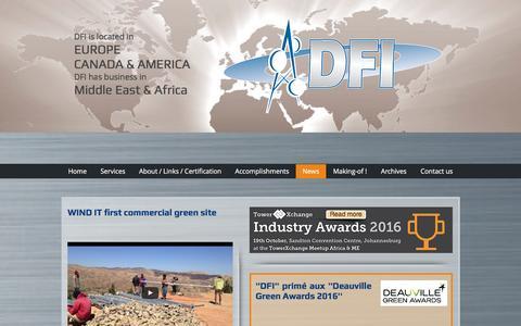 Screenshot of Press Page dfitelecom.com - dfitelecom, engineering, ingénierie, pylon, monopole | News - captured May 12, 2017