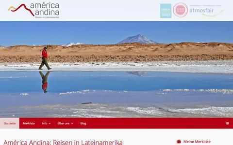 Screenshot of Home Page america-andina.de - America Andina ist Ihr Spezialist für Lateinamerika Reisen › America Andina - captured Oct. 29, 2017