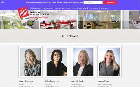 Screenshot of Team Page mbifurniture.com - Our Team | MBI Furniture - captured Feb. 17, 2016