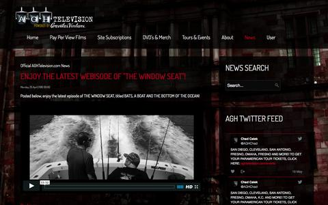 Screenshot of Press Page aghtelevision.com - Official AGHTelevision.com News - captured May 21, 2016