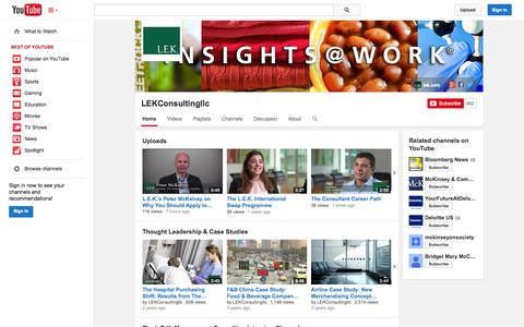Screenshot of YouTube Page youtube.com - LEKConsultingllc  - YouTube - captured Oct. 22, 2014