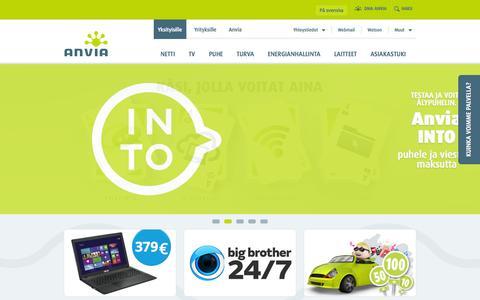 Screenshot of Home Page anvia.fi - Anvia - captured Sept. 19, 2014