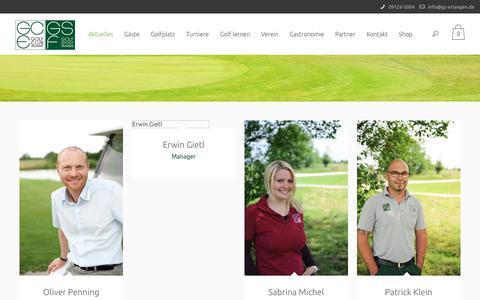 Screenshot of Team Page gc-erlangen.de - Team   Golf Club Erlangen - captured July 14, 2018